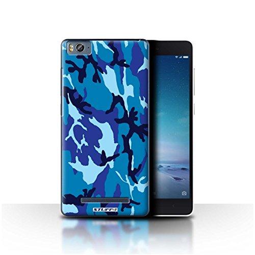 Hülle Für Xiaomi Mi 4C Armee/Tarnung Blau 4 Design Transparent Ultra Dünn Klar Hart Schutz Handyhülle Hülle