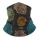 Lawenp Saludo Hermoso patrón de tortuga Bufanda de cara de tubo de polaina de cuello de clima frío para hombres y mujeres
