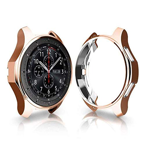 Yun Estuche AHC TPU Chapado a Prueba de Golpes for Samsung Gear S3 Frontier Smartwatch 42mm (Negro) (Color : Rose Gold)