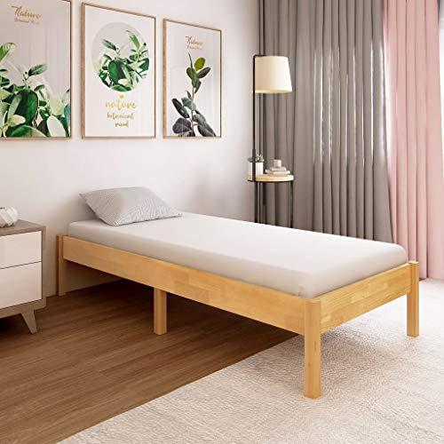 UnfadeMemory Estructura de Cama para Dormitorio,Decoración de Habitación,Elegante y Clásico,Madera Maciza de Roble (100x200cm)