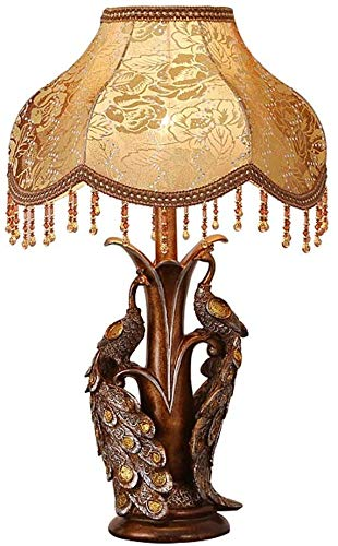 Creative Peacock Table Lamp Contra Retro Table Light Bed Top Head Lighthouse Decoration Light,A