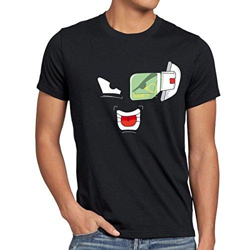 style3 Scouter 9000 Goku T-Shirt Homme, Taille:L;Couleur:Noir