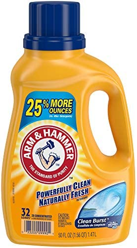Arm & Hammer Clean Burst, 140 Loads Liquid Laundry Detergent, 210 Fl oz Packaging may vary