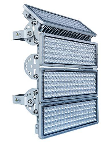 Hugging LED Strahler 400W, Flutlicht,LED Fluter, Flutlicht LED Außen, LED Strahler Außen 6500K IP67 Für Docks Baustellen Stadien Rasenflächen