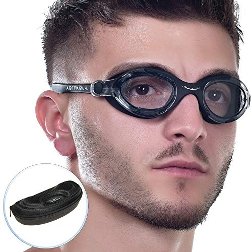 AqtivAqua Gafas de natación de Amplio Rango de visión SX // Entrenamientos de natación - Mar Abierto // Línea para Interiores - Exteriores