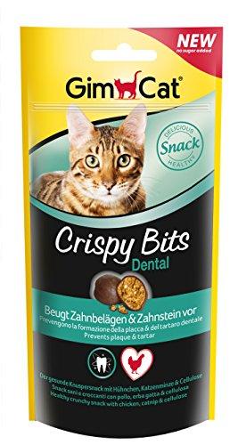 GimCat Crispy Bits - Knuspriger Katzensnack ohne Zuckerzusatz mit funktionalen Inhaltsstoffen - 1 Beutel (1 x 40 g)
