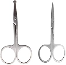 AY Small Regular and Nasal Hair Removal Safety Scissor Combo (Pack of 2)