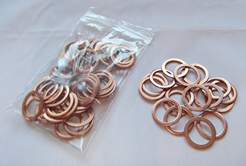 100 Stück Kupferringe/Dichtringe/Dichtung Kupfer 18x24x1,5 mm Din 7603 Form A