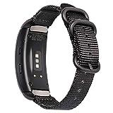 Zeit Diktator Watch Band for Samsung fit 2/2 pro Smart Watch,Quick Release Nylon Watch Replacement Strap for Samsung fit 2 pro Gear Fit 2 SM-R360 Fit 2 Pro SM-R365 smartwatch (Black)