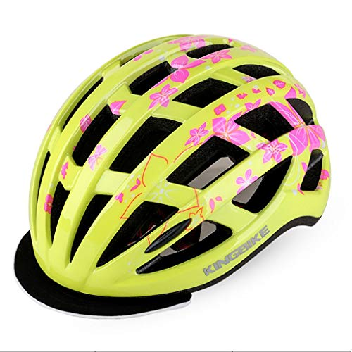 S-TK Casco De Bicicleta For Mujer Cascos De Bicicleta For Adultos Bicicletas For Mujer Casco De Bicicleta Ajustable Giro Casco De Bicicleta Ajustable 57cm-62cm Amarillo Cascos MTB