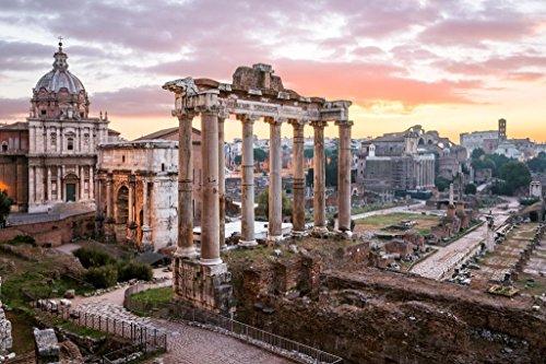 Sunrise Over Roman Forum Rome Italy Photo Photograph Cool Wall Decor Art Print Poster 36x24