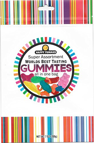 Happy Yummies Worlds Best Tasting Gourmet Gummies All In One Assortment 7oz