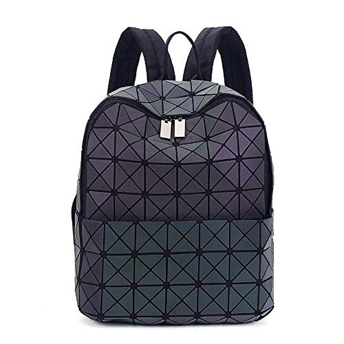 GYHJGMochila Laser Bag Geometry Lingge Luminous Diamond Shoulder Lady Leisure Travel Mochila Cool Mochila Mujeres Mochila Moda Mochila multifunción Mochila de Viaje Luminous 1