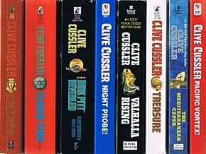 Clive Cussler Dirk Pitt Series, 8 Volumes: Cyclops / Flood Tide / Dark Pitt Revealed / Night Probe / Valhalla Rising / Treasure / The Mediterranean Caper / Pacific Vortex