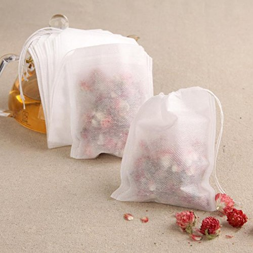 Pouch Retort - Non Woven 100pcs Paper Empty Draw String Teabags Heat Seal Filter Herb Loose Tea Bag Pouch - Tea Underwear Paper Infrared Draw Pump Filter Empty Gift Strainer Tea Filter G