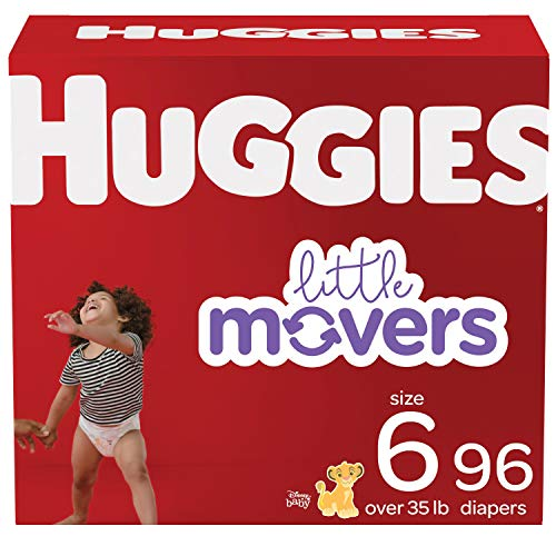 Huggies Little Movers Baby Diapers Size 6, 96 Ct