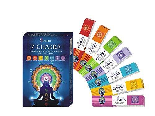 Divine Magick 7 Chakra Incense Sticks 15gms - 7 Packs