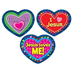 Jesus Loves Me! Shape Stickers