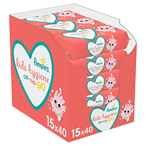 Pampers Kids Hygiene On-The-Go Lingettes 15 Paquets 600 Pieces