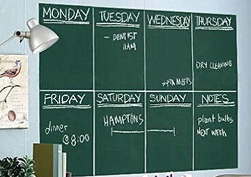 Large Self-Adhesive Chalkboard Decor Wall Sticker 78.7x17.7 inch,Cuttable DIY Contact Paper Green Educational Blackboard for Home and Kitchen,Bar,Restaurant,School,Office, Party Decor Supplies