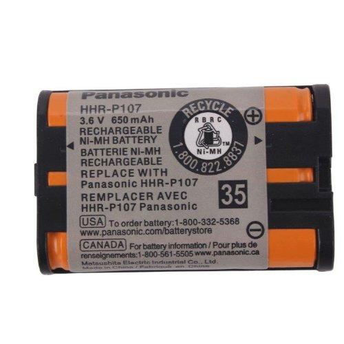 Original Panasonic Ni-MH Rechargeable Cordless Phone Battery (HHR-P107A/1B) (Not Generic)