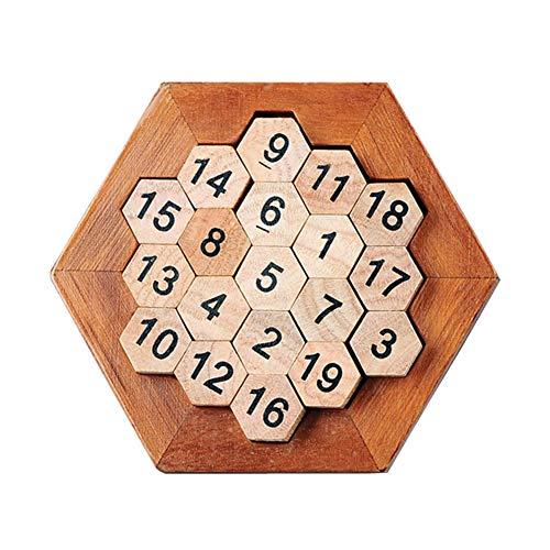 Homeng digitaal bordspel geweldig cadeau voor kinderen en volwassenen, houten brein Teaser puzzel speelgoed, houten wiskunde zeshoek nummer puzzel Sudoku bordspel