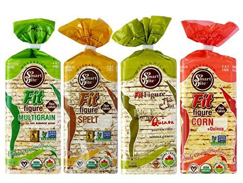 Smartbite Snacks Thin Organic Rice & Corn Cakes Variety Pack (Pack of 12)