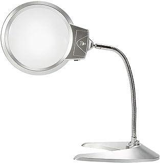 a4ce6ee4cfb12f FDJWN Lupa Lupa de Sobremesa con Luz LED, Lente Óptica sin Distorsión 10X  para Inspección