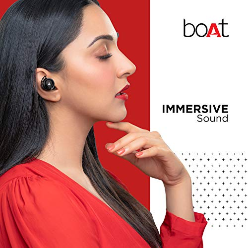 Boat Airdopes 621 Bluetooth Truly Wireless Earbuds with Mic(Active Black)
