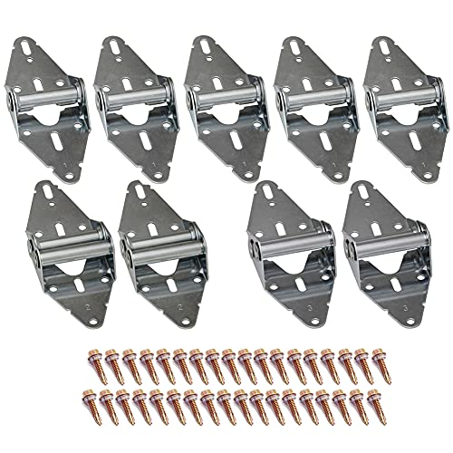 9Pcs Garage Door Hinges with Galvanized Finish Corrosion Resistant Residential/Light Commercial Garage Door Replacement Hinge