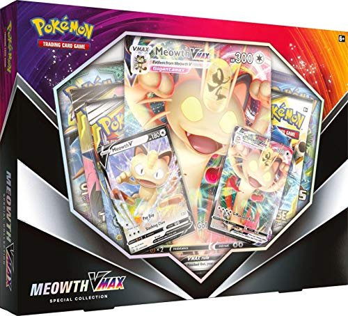 Pokemon TCG: Meowth V Teaser Box | 5 Booster Packs | 2 Foil Promo Cards | 1 Oversize Foil Card | Genuine Cards