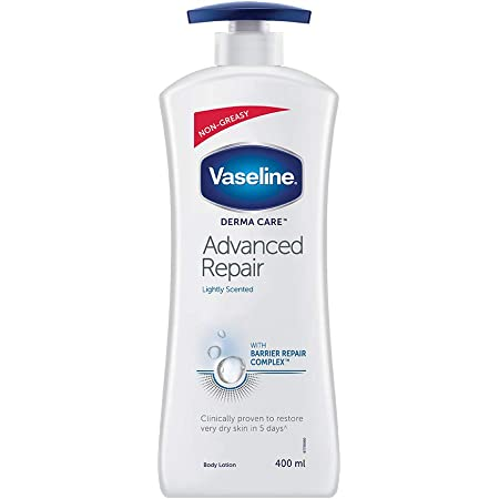 Vaseline Derma Care Advanced Repair Body Lotion, Non Greasy, Long Lasting Moisturisation For Sensitive, Dry Skin - 400 ml