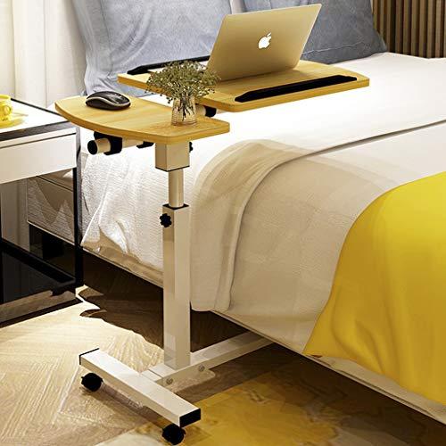 Laptoptisch höhenverstellbar Notebooktisch Mobile Laptopständer Computertisch mit Mausständer Rolltisch Betttisch Sofatisch Pflegetisch Nachttisch für Bett und Sofa, höhenverstellbar 62-96cm