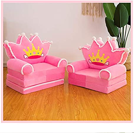 A-Pink Kids-Couch-Folding-Toddler-Chair-Furniture-2-in-1 Flip-Open-Sofa-Bed-for-Living-Room-Bedroom-Kid-TV-Chair Floor Cushions for Baby Sleeper Foam Chair Recliner Seats Christmas Birthday