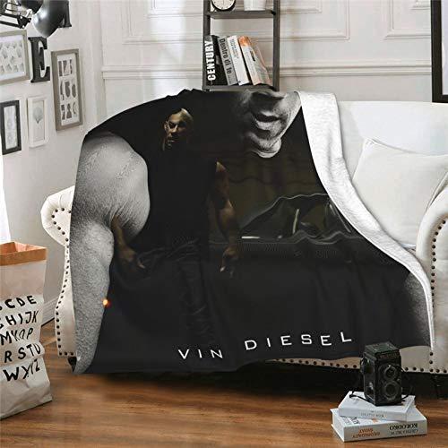 Brian O'Conner Bandoleros Commodity Fast & Furious 3 - Manta de aire acondicionado Sherpa para sofá, silla, sofá, cama, impresión 3D, 80 x 60 pulgadas