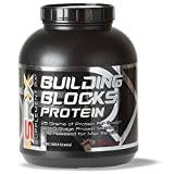 Supplement Rx (SRX) - Building Blocks Protein Rich Chocolate 4 lbs, Whey Protein Powder Concentrate, Whey Protein Isolate, Egg White Protein Powder, Weight Loss, Gluten Free, Protein Shake Powders