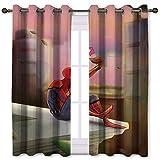 SSKJTC Cortinas de armario traviesas Spiderman teléfono móvil Belleza techo cortinas para habitación de niñas (106 x 115 cm)