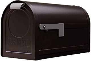 Gibraltar Mailboxes Northpointe Large Capacity Galvanized Steel Venetian Bronze, Post-Mount Mailbox, NM16NV01