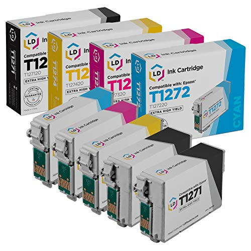 LD Products Remanufactured Ink Cartridge Replacement for Epson 127 ( Black,Cyan,Magenta,Yellow , 5-Pack )