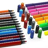 Kinder Farbstifte waschbar – Wasserfarben Zeichenstifte Set Aquarellmalstifte sortierte Farben Marker Stifte für Kinder Zeichnen & Kritzeln – 24 Farben