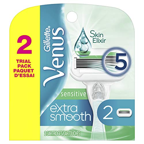 Gillette Venus Extra Smooth Sensitive Womens Razor Blades - 2 Count Refills