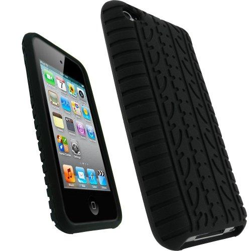 SKS Distribution Nero Pneumatico Tyre Custodia in Silicone/Cover/Case per Apple iPhone 5