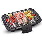 Meneflix Smokeless Electric Griddle, 5-Level Control and u-Shaped Heating Tube, Electric BBQ Grill with Advanced Infrared Technology, for Home Camping