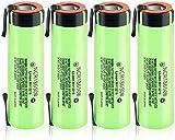 Baterías Recargables 3.7V 3400Mah Baterías 20ANcr18650BPilas De Iones De Litio De Litio Real con Pestañas De Níquel 2Pcs-4Pcs