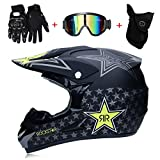 LTongx Casque de Motocross Adulte MX Moto Casque Scooter ATV Casque Route Course D....