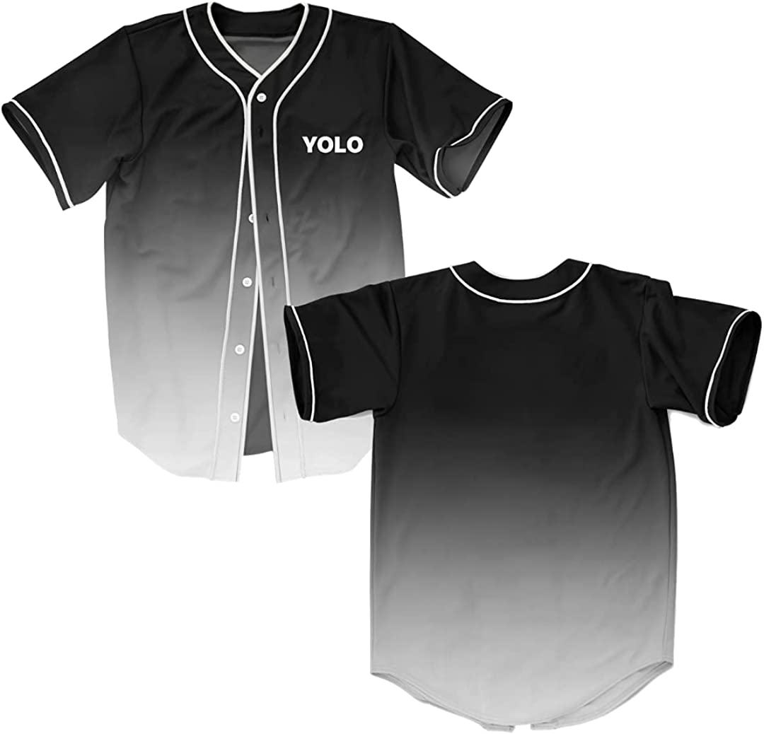 OnePhyle YOLO You only Live Once Baseball Jersey Style Shirt