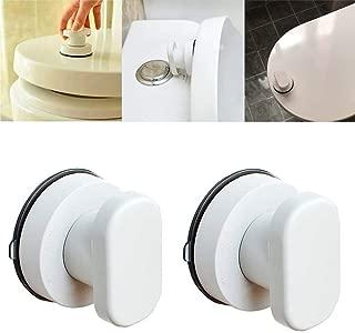 QINGJIANG 2 piezas de ventosa para tapa de inodoro con manija de cristal para puerta corredera y cajón