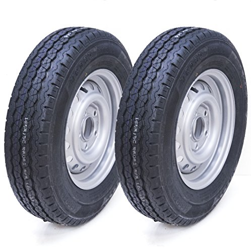 Parnells 2-165R13C 5 Bolzen 112mm PCD Anhänger Rad und Reifen Wanda WR082 Reifen 670kg