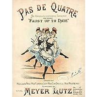 Ascherberg Meyer Lutz Ballet Opera Music Book Cover Extra Large XL Wall Art Poster Print 玉 オペラ 音楽 本 カバー 壁 ポスター印刷