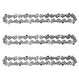 LINGSFIRE 3 Pcs Cadenas de Sierra 1/4 Pulgadas, Guía de corte de madera Mini cadena de motosierra...